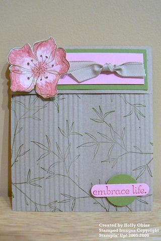 Brayered envelope card closed