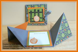 Halloween Triangle Trifold Card