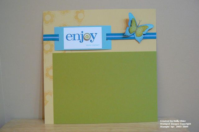 Enjoy Every Moment Page