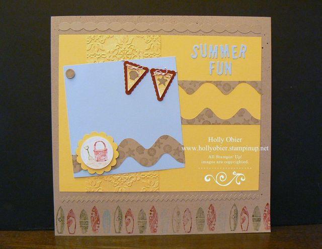 """Summer Splash 12""""x12"""" page"""
